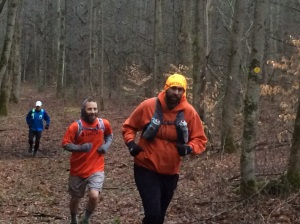 Mike Valone works his way through the trails