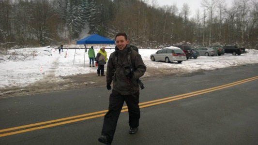 Braving the cold after hanging out on the ski hill at the WInter Trail Festival. Photo Credit: Chris Patterson